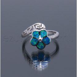 Opál gyűrű görög kis virág