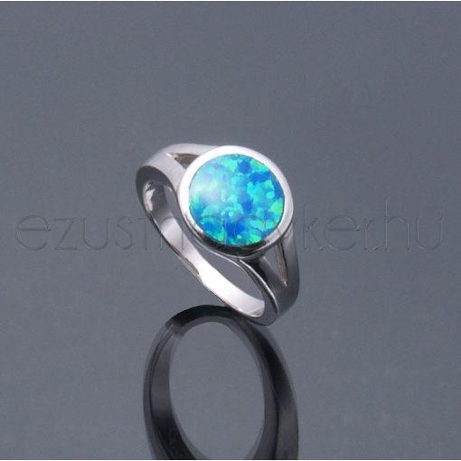 Opál köves gyűrű kerek