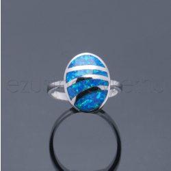 Opál gyűrű ovál osztott