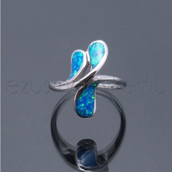 Opál gyűrű 3 levél