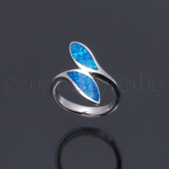 Opál gyűrű 2levél