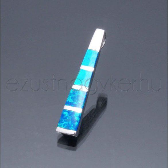 Opál medál hosszú kék