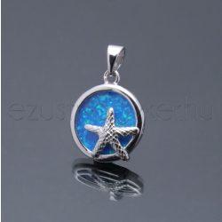 Opál medál kerek tengeri csillag