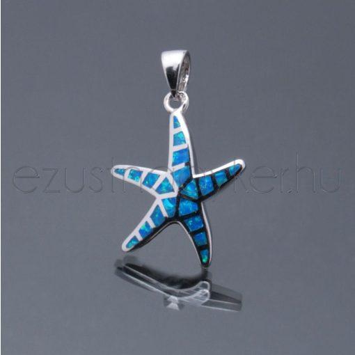 Opál medál tengeri csillag kék