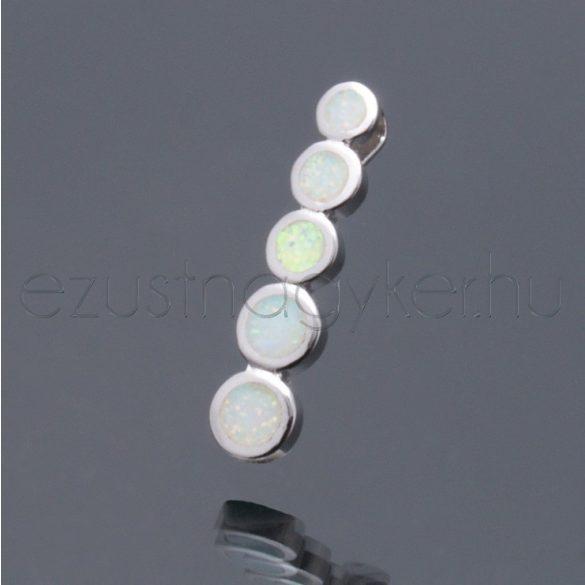 Opál medál 5 kör - fehér