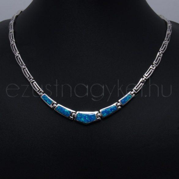 Opál nyakék görög  kék (nagy méret, 49 cm-es)