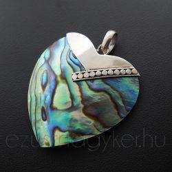 Paua szív medál