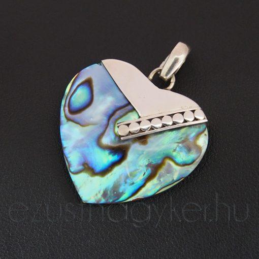 Paua kagyló kis szív medál