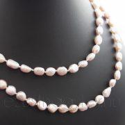 Hosszú tenyésztett  gyöngysor rózsaszín