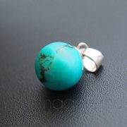 Türkiz gömb medál