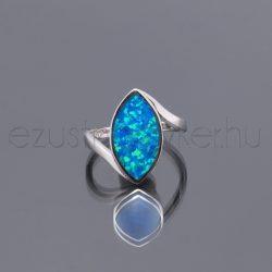 Opál gyűrű navett kék