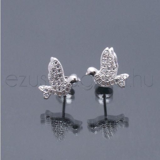 Galamb ezüst fülbevaló