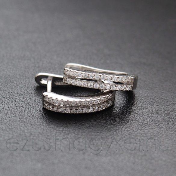 Ezüst füli 2 sor kővel