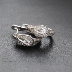 Ezüst füli csepp+kő