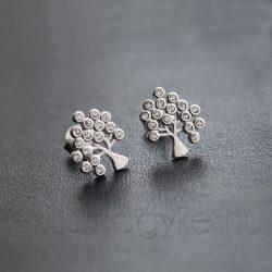 Életfa ezüst fülbevaló