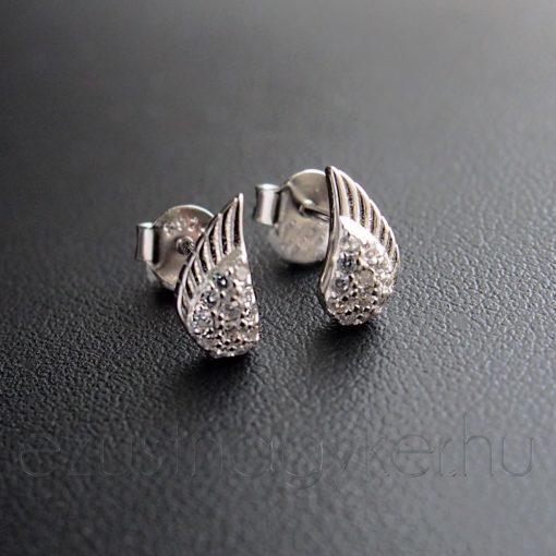 Kicsi Angyalszárny ezüst fülbevaló