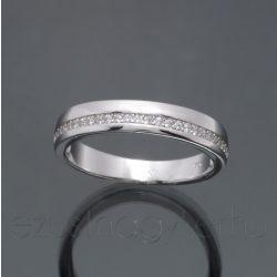 Cirkónia köves karika gyűrű