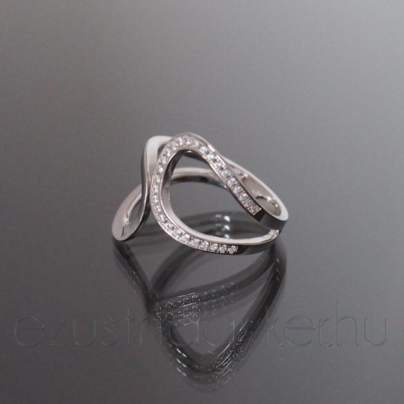 Ezüst gyűrű két ív