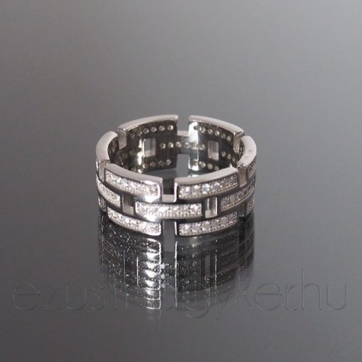Ezüst gyűrű szelvényes