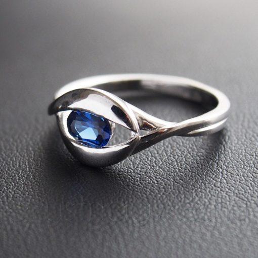 Cirkónia köves Masni Ezüst Gyűrű