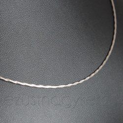 Ezüst nyaklánc vésett kígyó - 1,2mm vastag