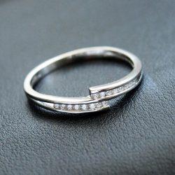 "Cirkónia köves gyűrű ""Felícia"""