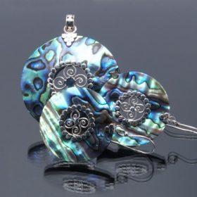 Paua kagyló ezüst ékszerek