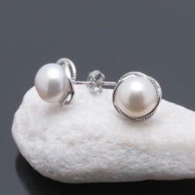Tenyésztett gyöngy ezüst ékszerek