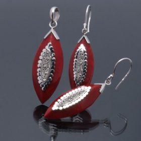 Korall ezüst garnitúrák